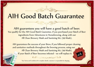 Good Batch Guaranteed!