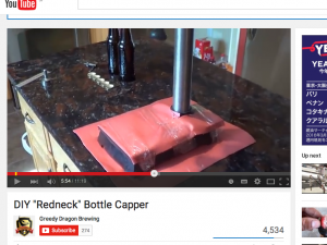 home made bottle capper