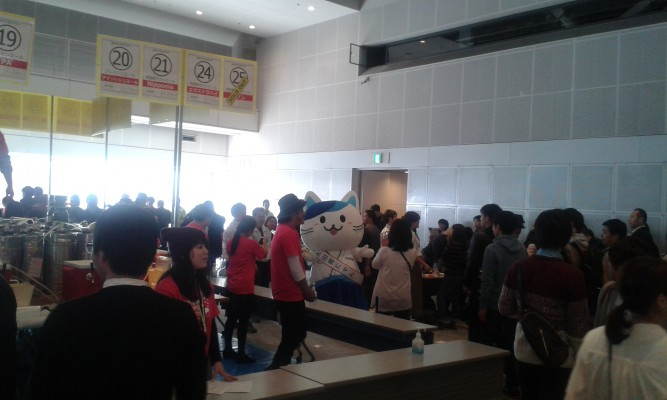 It's not a Japanese festival until you see a cute mascot